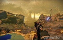 Destiny handgun in wasteland